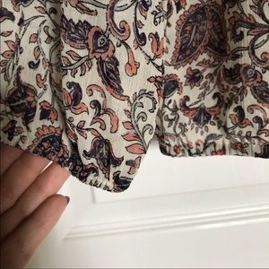 Lucky Brand Tops - Lucky Brand three quarter sleeve patterned blouse